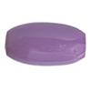 "Resin Beads 26x12mm Oval 8"" Strand Purple"